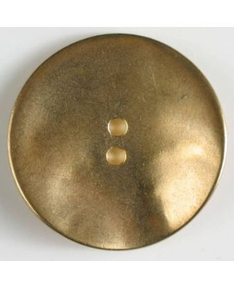full metal button with 2 holes - Size: 28mm - Color: dull gold - Art.No. 380225