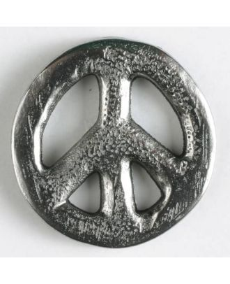 full metal button with shank - Size: 30mm - Color: antique silver - Art.No. 370478