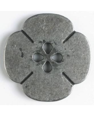 full metal button flower - Size: 25mm - Color: antique tin - Art.No. 370549