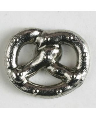 Metal button with shank - Size: 20mm - Color: antique silver - Art.No. 310788