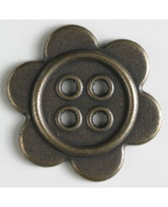 full metal buttons with holes - Size: 40mm - Color: antique brass - Art.No. 410202