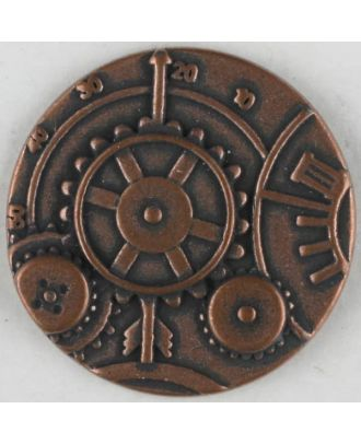 steampunk button with shank - Size: 30mm - Color: copper - Art.No. 370771