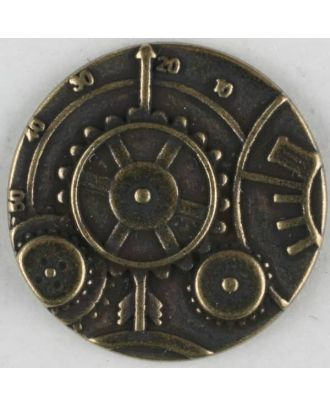 steampunk button with shank - Size: 23mm - Color: antique brass - Art.No. 331075