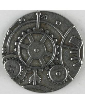 steampunk button with shank - Size: 30mm - Color: dull silver - Art.No. 370769