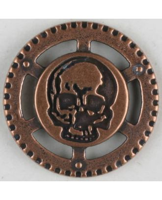 steampunk button with shank - Size: 30mm - Color: copper - Art.No. 370777