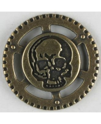 steampunk button with shank - Size: 23mm - Color: antique brass - Art.No. 331081
