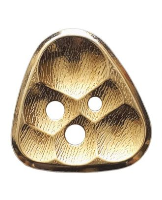 full metall button triangle comb 3-hole - Size: 30mm - Color: gold - Art.No. 430088