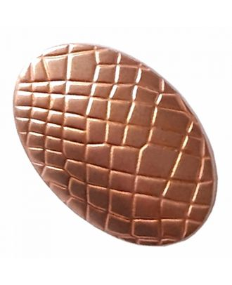 full metal button oval-shaped with reptile design and shank - Size: 30mm - Color: copper - Art.-Nr.: 420097