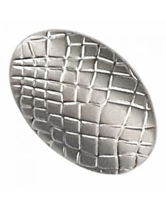 full metal button oval-shaped with reptile design and shank - Size: 20mm - Color: dull silver - Art.-Nr.: 341384
