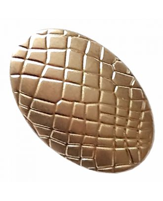 full metal button oval-shaped with reptile design and shank - Size: 25mm - Color: dull gold - Art.-Nr.: 420099