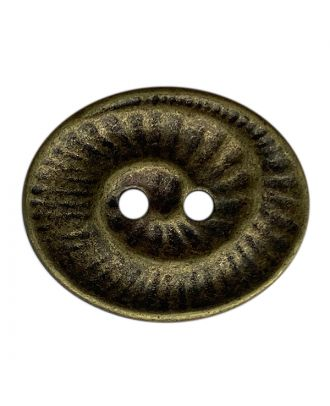 full metal button oval-shaped with 2 holes - Size: 23mm - Color: altmessing - Art.No.: 341401