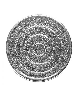 full metal button round shape with shank - Size: 15mm - Color: silber - Art.No.: 281228