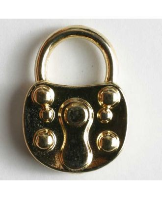 Lock button, full metal - Size: 23mm - Color: gold - Art.No. 370041