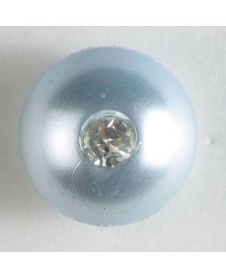 Rhinestone button - Size: 10mm - Color: blue - Art.No. 300196