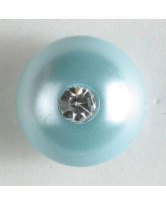 Rhinestone button - Size: 10mm - Color: green - Art.No. 300198