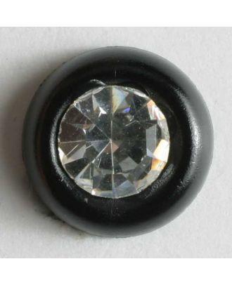rhinestone button - Size: 9mm - Color: black - Art.No. 310525