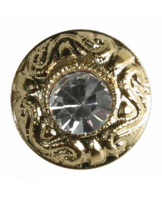 rhinestone button - Size: 11mm - Color: gold - Art.No. 340726
