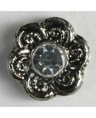 rhinestone button - Size: 11mm - Color: antique silver - Art.No. 330598