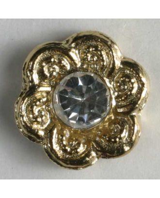 rhinestone button - Size: 11mm - Color: gold - Art.No. 340727