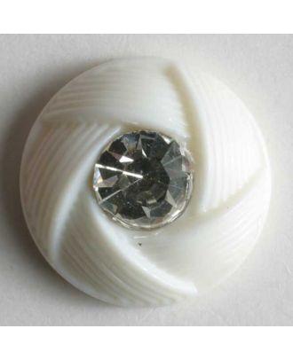 rhinestone button - Size: 13mm - Color: white - Art.No. 330604