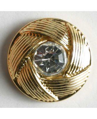 rhinestone button - Size: 10mm - Color: gold - Art.No. 330603