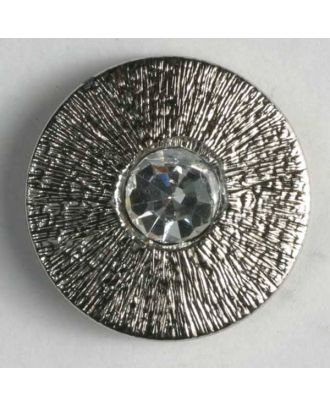 nylon button with rhinestones - Size: 14mm - Color: antique silver - Art.-Nr.: 340734