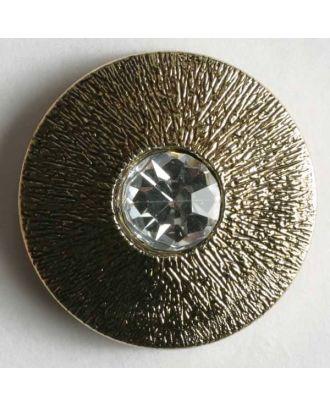rhinestone button - Size: 14mm - Color: antique gold - Art.No. 370275