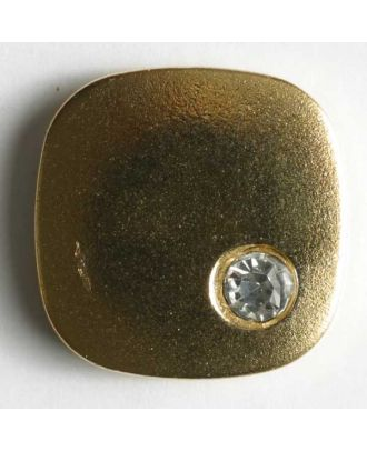 rhinestone button - Size: 18mm - Color: gold - Art.No. 380122