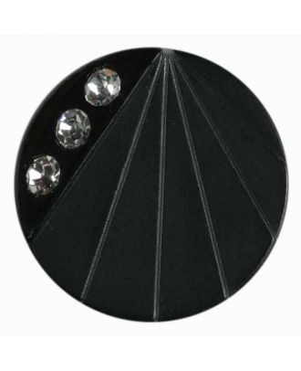rhinestone button - Size: 20mm - Color: black - Art.No. 440000