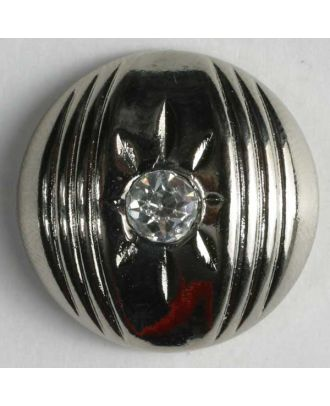 nylon button with rhinestones - Size: 20mm - Color: silver - Art.-Nr.: 380123