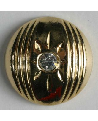 nylon button with rhinestones - Size: 15mm - Color: gold-plated - Art.-Nr.: 370283