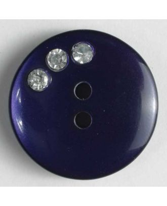 nylon button with rhinestones - Size: 20mm - Color: lilac - Art.-Nr.: 450032