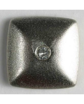 nylon button with rhinestones - Size: 23mm - Color: silver - Art.-Nr.: 400047