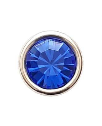 Rhinestonebutton with shank - Size: 8mm - Color: royal blue - Art.No. 341277