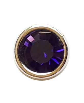 Rhinestonebutton with shank - Size: 8mm - Color: lilac - Art.No. 341278