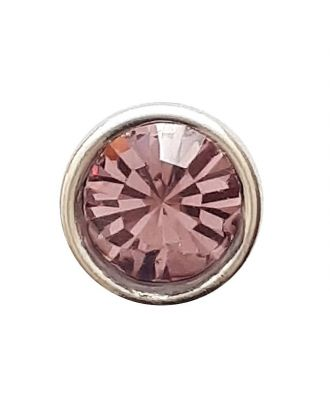 Rhinestonebutton with shank - Size: 8mm - Color: rose/pink - Art.No. 341279