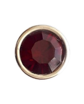 Rhinestonebutton with shank - Size: 8mm - Color: winered - Art.No. 341280