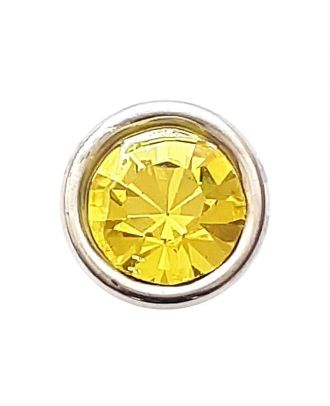 Rhinestonebutton with shank - Size: 8mm - Color: yellow - Art.No. 341281