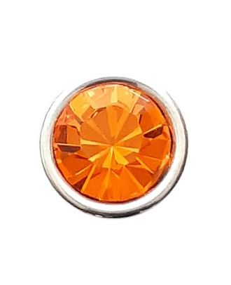 Rhinestonebutton with shank - Size: 8mm - Color: orange - Art.No. 341282