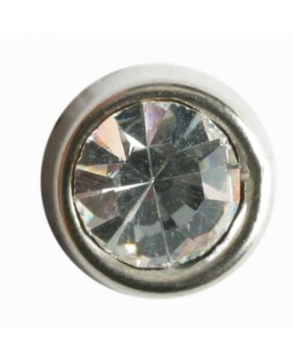 rhinestone button - Size: 10mm - Color: silver - Art.No. 330608