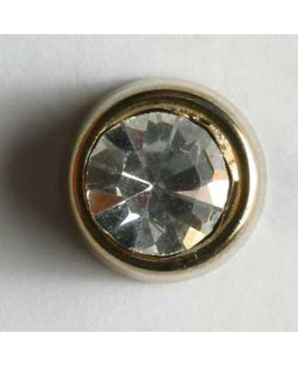rhinestone button - Size: 10mm - Color: gold - Art.No. 340739