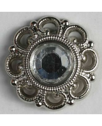 rhinestone button - Size: 20mm - Color: silver - Art.No. 420028