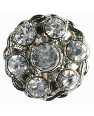 rhinestone button - Size: 23mm - Color: silver - Art.No. 510014