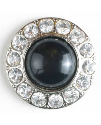 Rhinestone button - Size: 20mm - Color: silver - Art.No. 500014