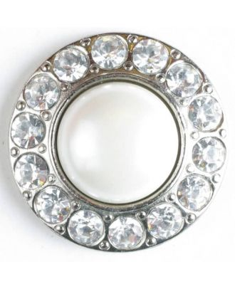 Rhinestone button - Size: 20mm - Color: silver - Art.No. 500012