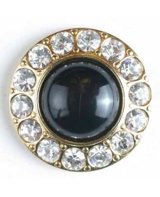 Rhinestone button - Size: 25mm - Color: gold-plated - Art.No. 510019