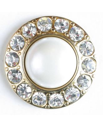 Rhinestone button - Size: 25mm - Color: gold-plated - Art.No. 510017