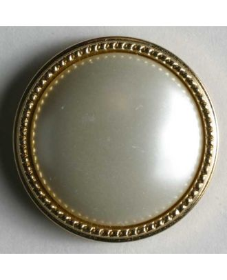 polyamide button - Size: 13mm - Color: white with gold rim - Art.No. 231114