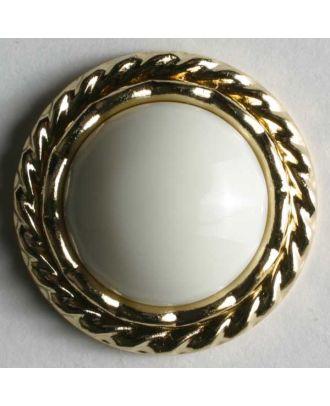 polyamide button - Size: 20mm - Color: white - Art.No. 310139