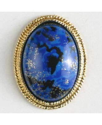 two-piece button with shank - Size: 18mm - Color: blue - Art.No. 310387